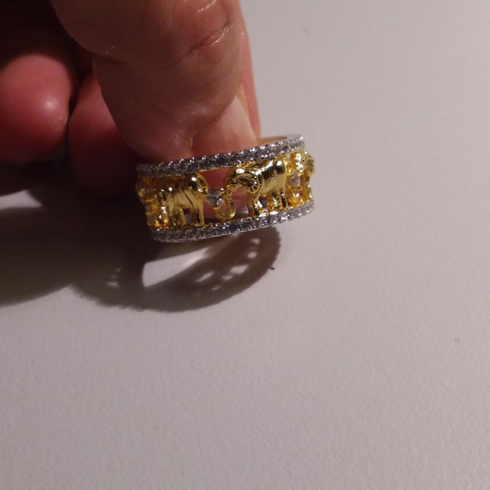 Rounded Elephant Guard Ring